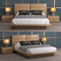 3D model bed decimus queen