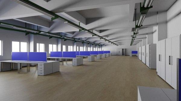 office interior 1 3D model