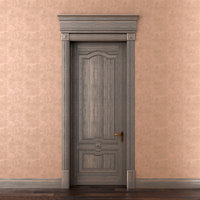 Classic single wood door