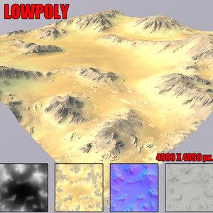 desert terrain 3D
