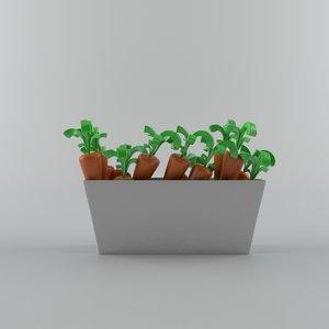 cartoon carrot 3D model