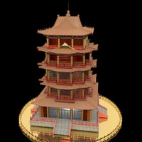 3D model chinese tower