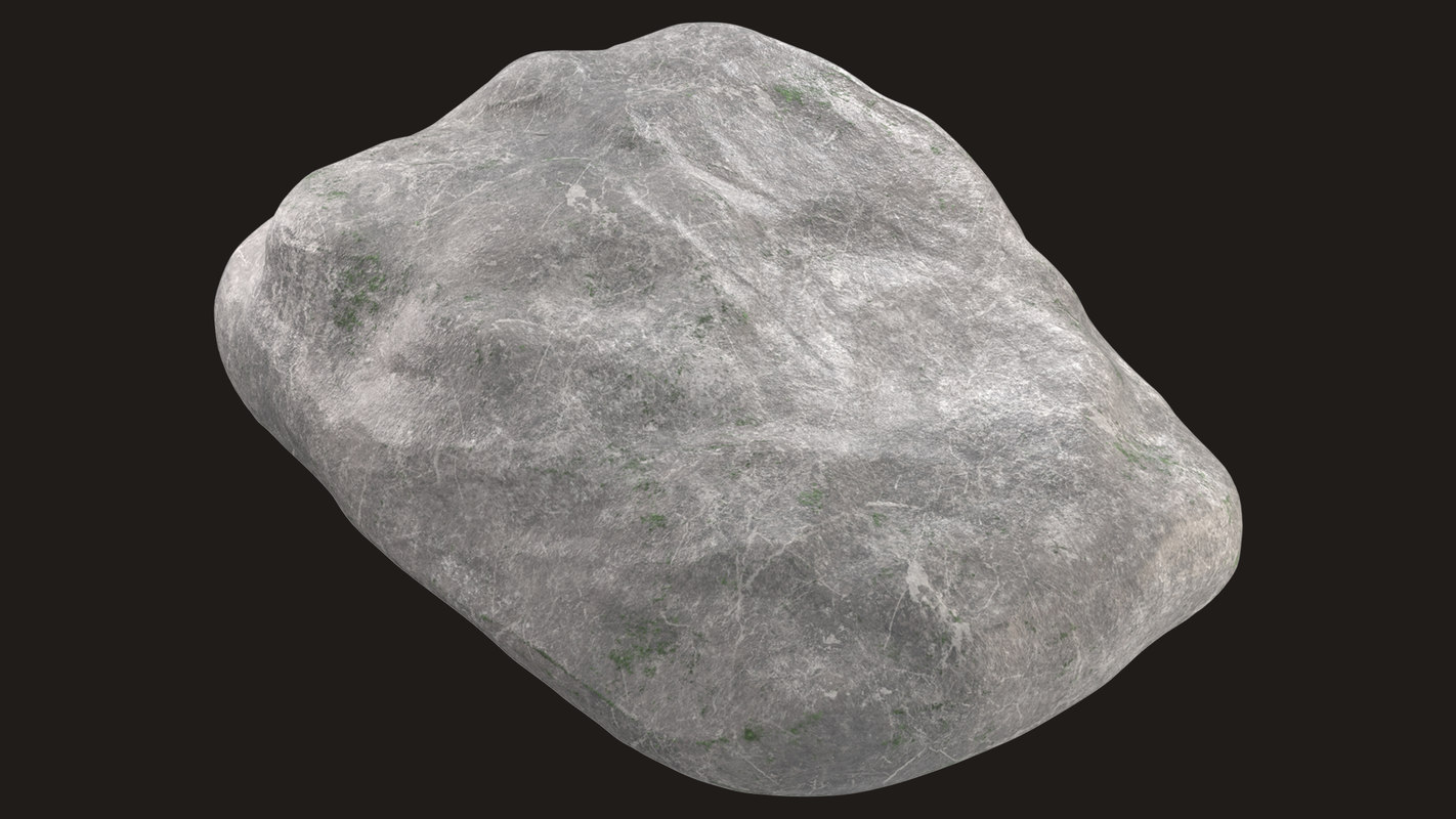 3D boulder pbr games model