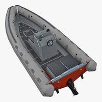 3D model rescue boat