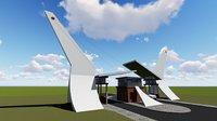 3D guard house design