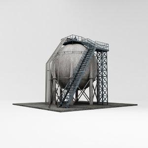 refinery industrial 3D model