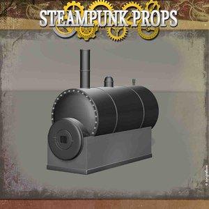 3D steam boiler model