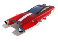 3D model flying racing car