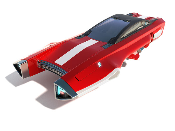 3D model flying racing car