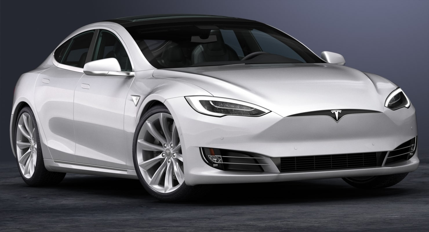 2017 Tesla S Interior 3d Turbosquid 1246543