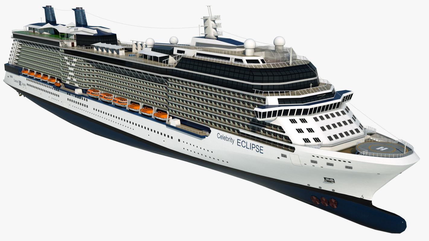 cruise celebrity eclipse ship 3D model