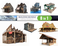 Building Bundle LOW POLY PBR