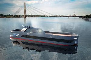 boat hydrofoil 3D model
