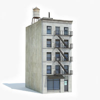 3D model ready apartment building