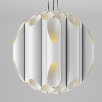 modern pvc pedant light 3D