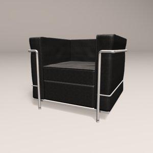 3D lc2 le corbusier