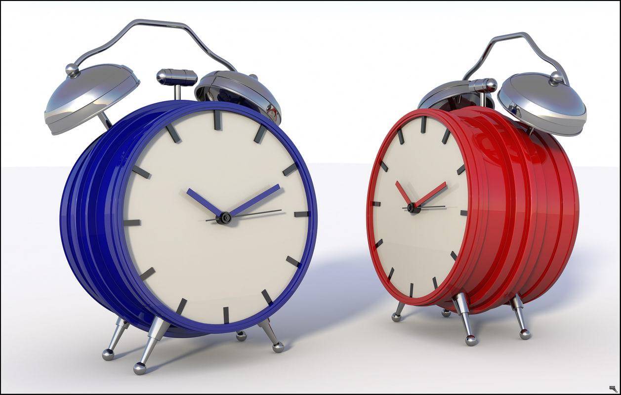 alarm clock classic 3D model