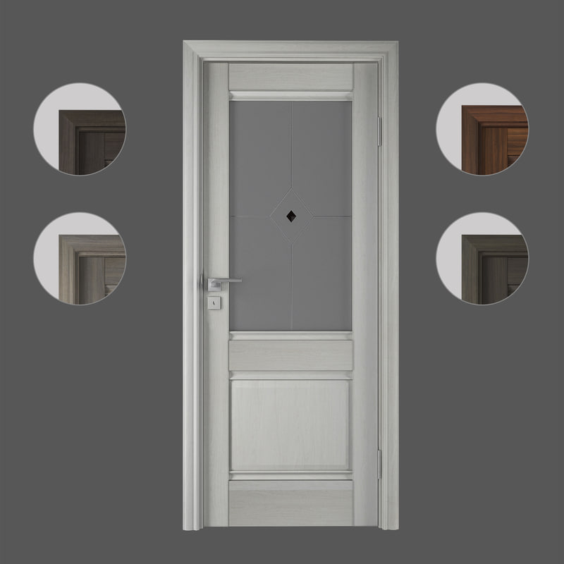 3D doors profildoors x2 model