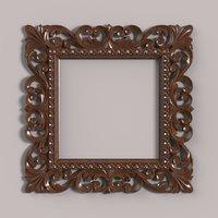 3D carved frame cnc model
