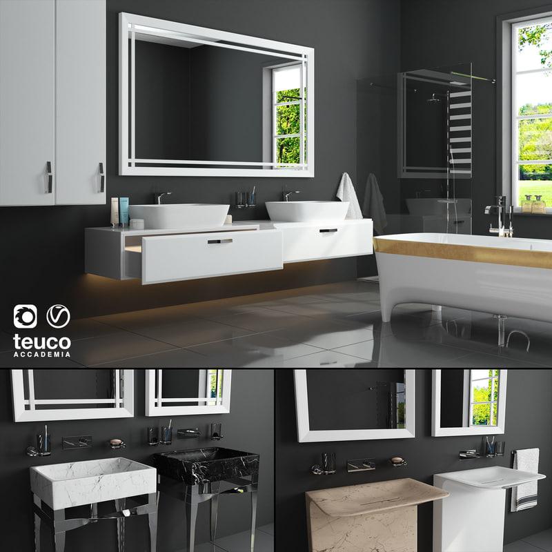 3D furniture set accademia teuco
