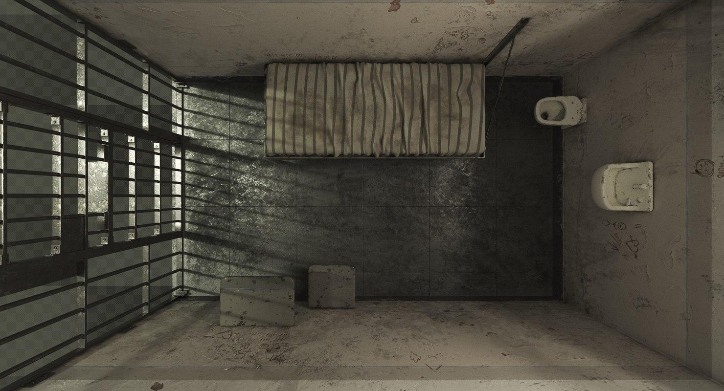 3d model old prison cell turbosquid 1246592