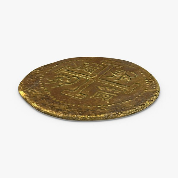 gold-coins-dirty---coin-1-flat 3D model