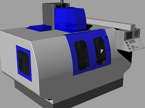 machine cnc 3D model