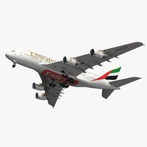 airbus emirates a380 3D