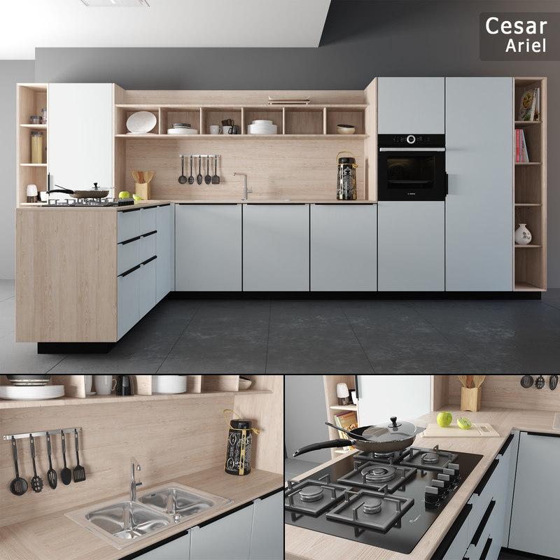 3d Model Kitchen Set Cesar Ariel Turbosquid 1246623