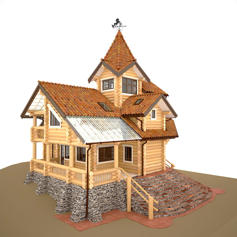 project cottage logs 3D model