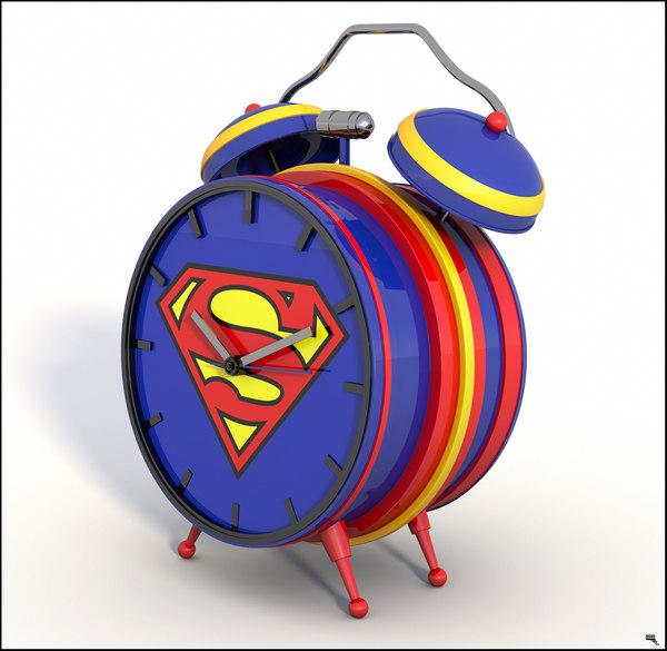 3D alarm clock superman