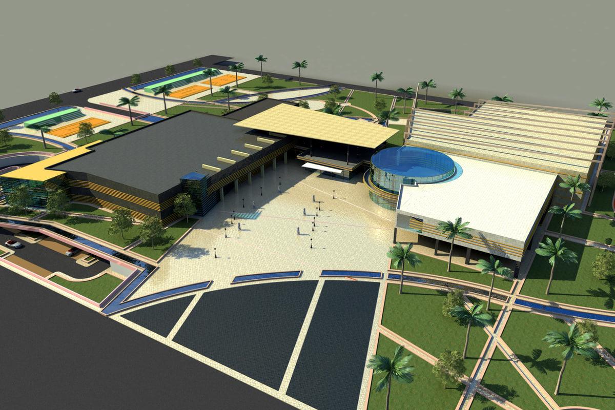 3D model sports complex