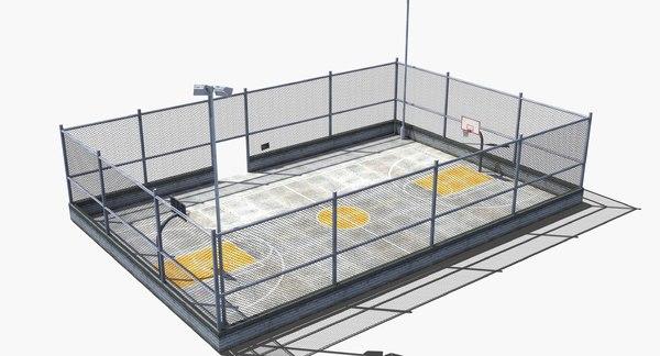 outdoor basketball court 3D