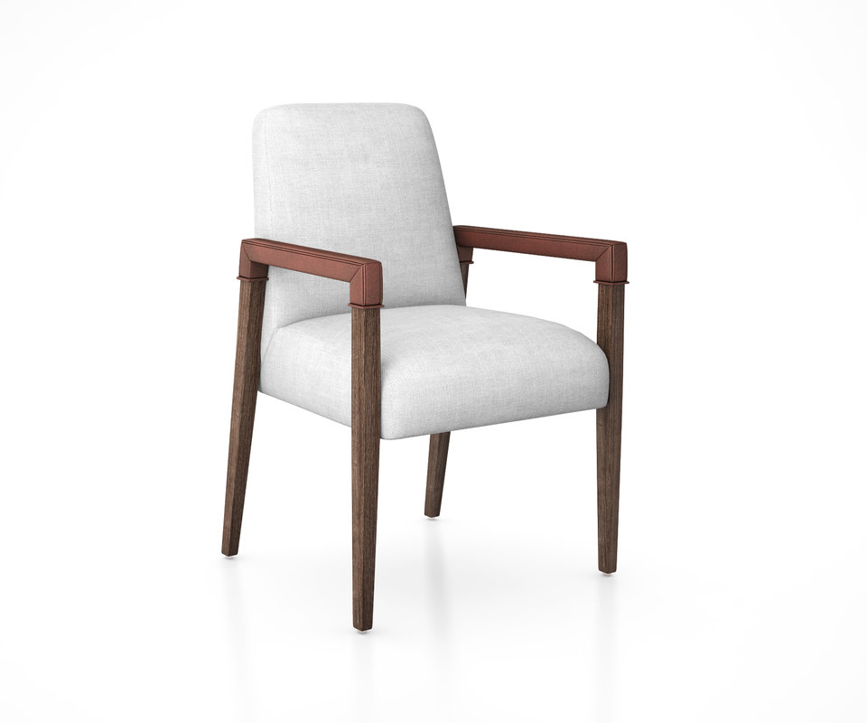 a-frame leather accent chair 3D model