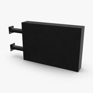 storefront-sign-07 3D model