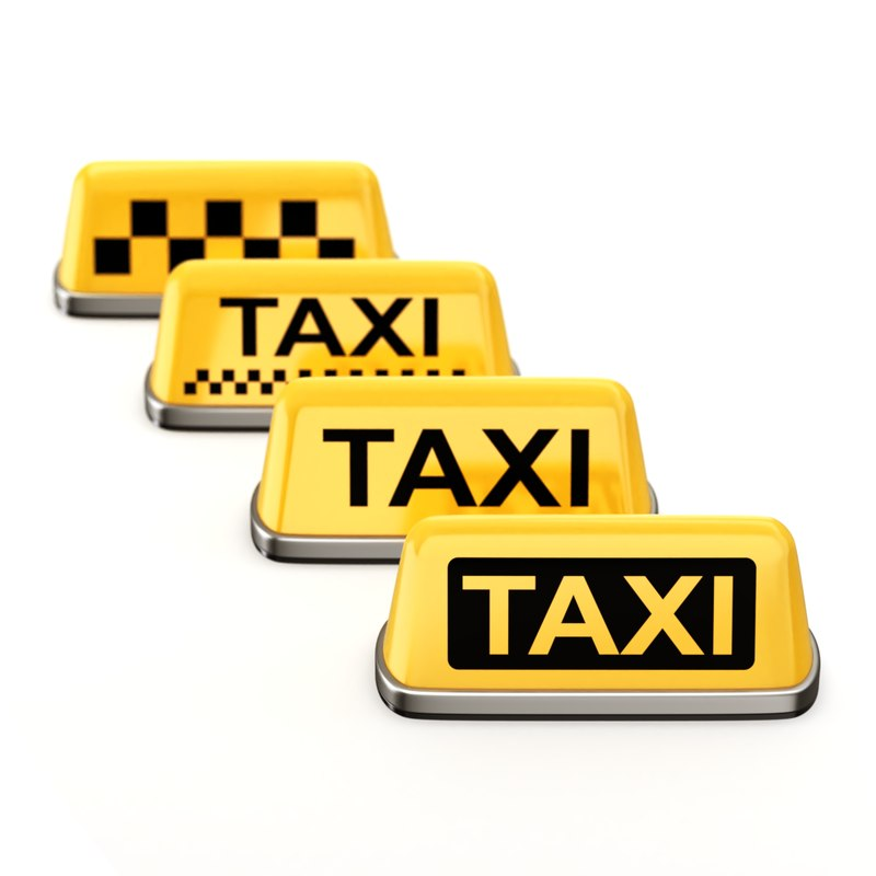 3D model taxi sign