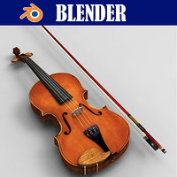 violin music instrument 3D model