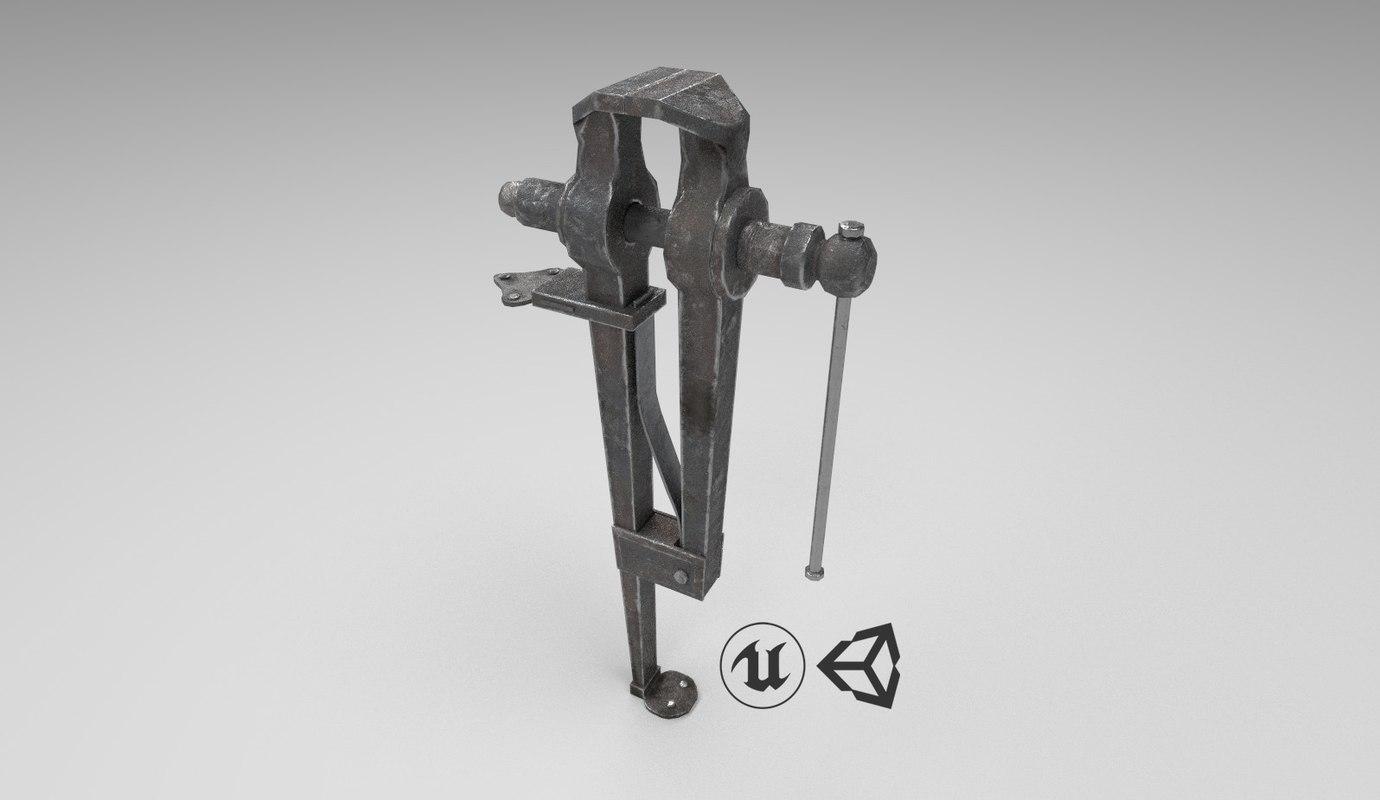 3D medieval leg vise