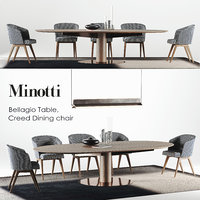minotti dining bellagio set 3D model