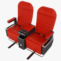 class airplane chair 3D