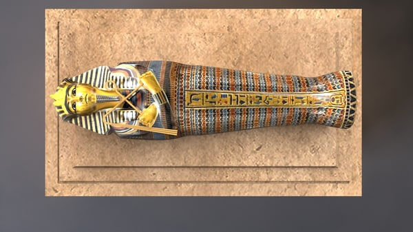 hd tutankhamun sarcophagus model