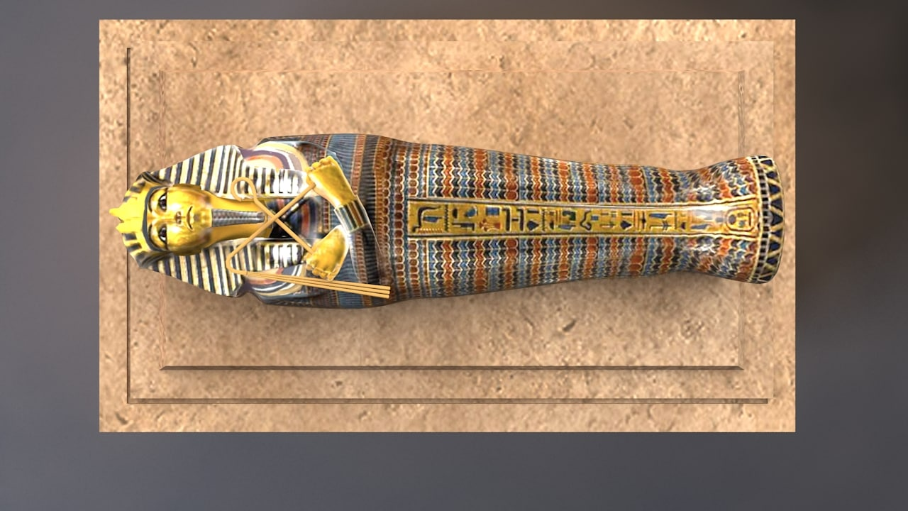 hd tutankhamun sarcophagus model