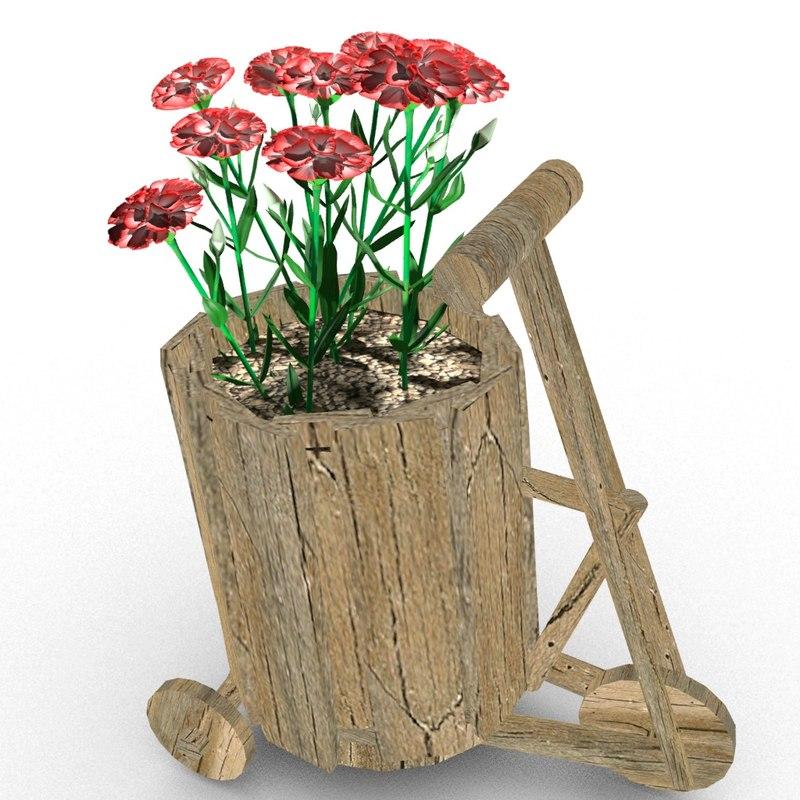 3D creative flower pot