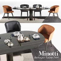 minotti dining bellagio set 3D