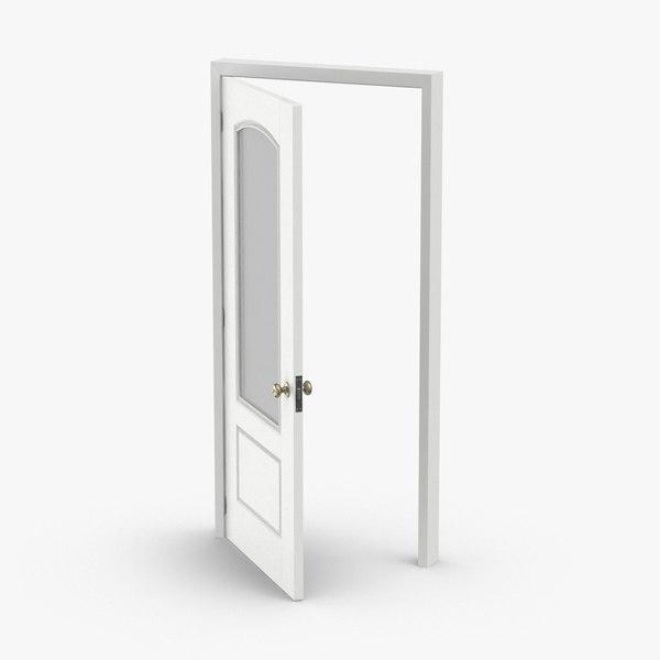 3D exterior-doors---door-4-ajar