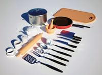 3D kitchen tools model