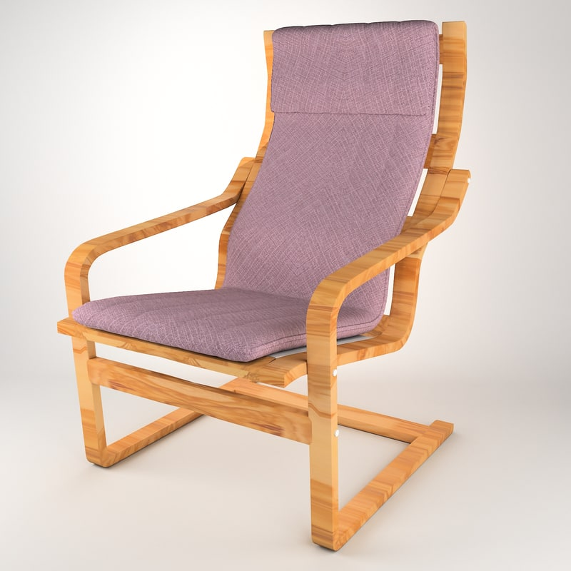 3D olive chair