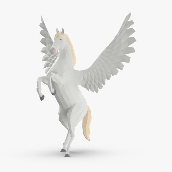 3D model pegasus---rearing