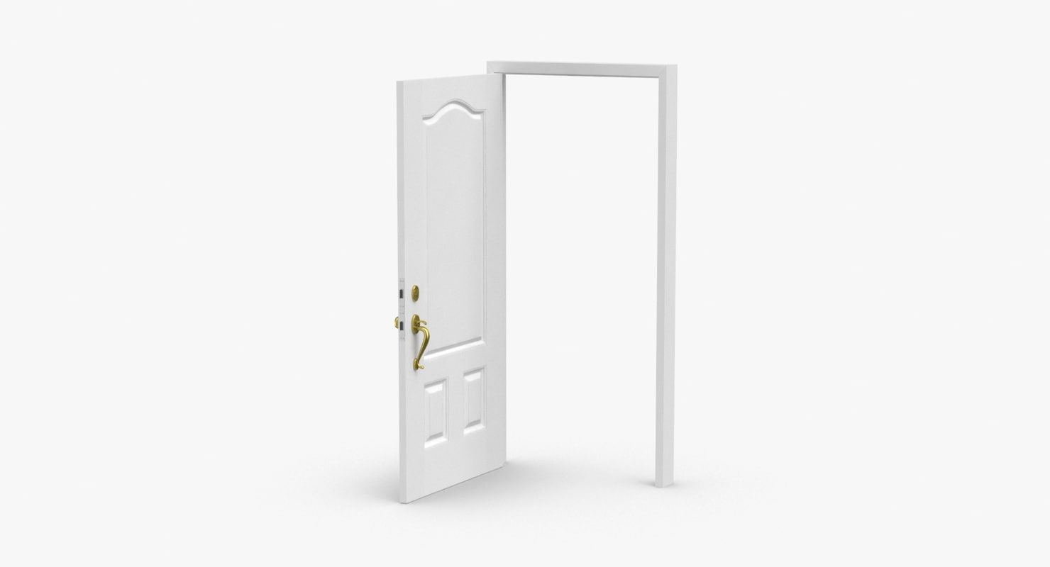 3D exterior-doors---door-6-open model
