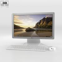 lg chromebase white 3D
